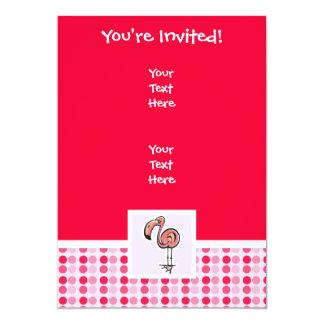 Cute Pink Flamingo 5x7 Paper Invitation Card