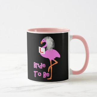 Cute Pink Flamingo Bachelorette Hen Party Theme Mug