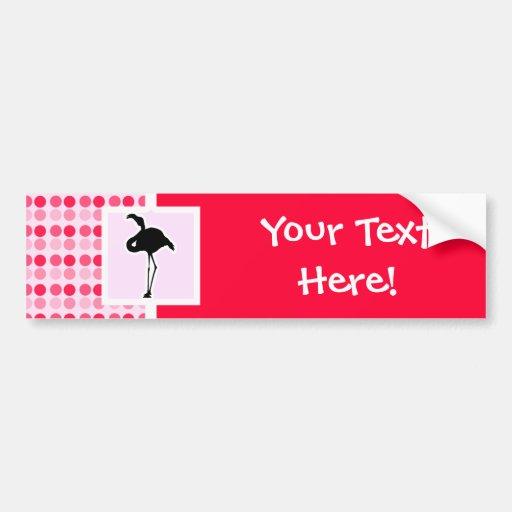 Cute Pink Flamingo Bumper Sticker