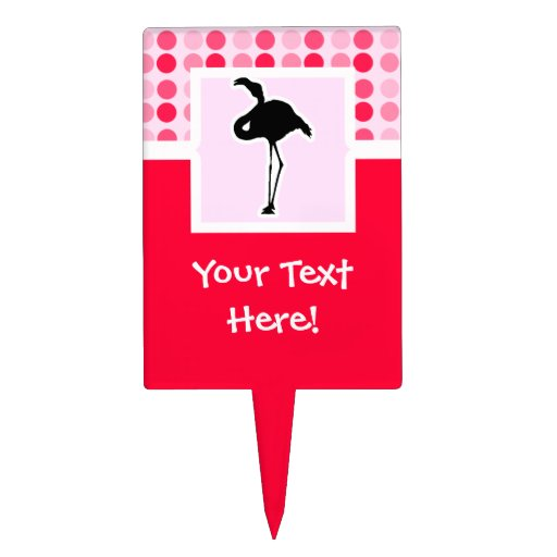 Cute Pink Flamingo Cake Toppers
