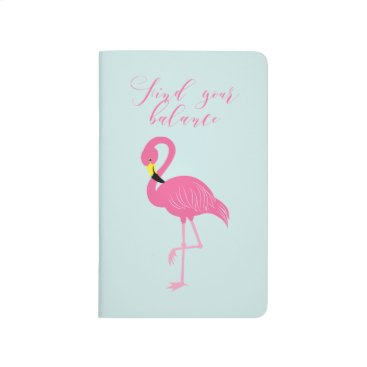 "Beach Themed Cute Pink Flamingo ""Find Your Balance"" Journal"