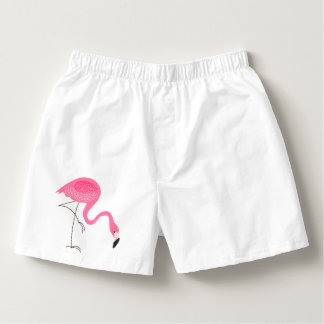 Cute Pink Flamingo Illustration Boxers