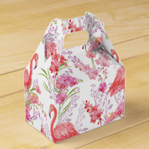 Cute Pink Flamingo pattern beach party box