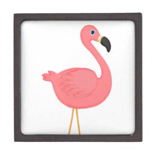 Cute Pink Flamingo Premium Jewelry Boxes