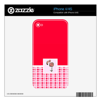 Cute Pink Flamingo Skins For The iPhone 4S