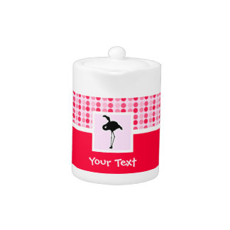 Cute Pink Flamingo Teapot