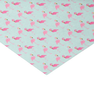 "Cute Pink Flamingos 10"" X 15"" Tissue Paper"