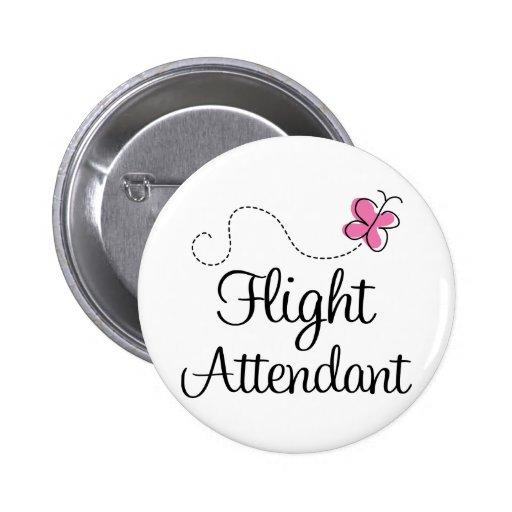 Cute Pink Flight Attendant 2 Inch Round Button