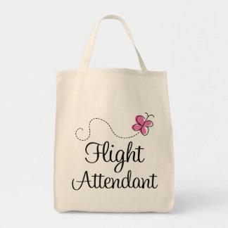 Cute Pink Flight Attendant Tote Bag