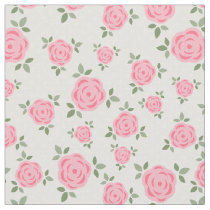 Cute Pink Floral Pattern Fabric