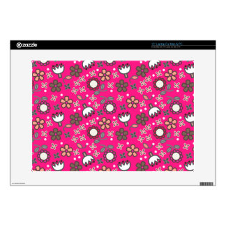 Cute Pink Floral Pattern laptop skin