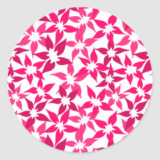Cute Pink floral sticker