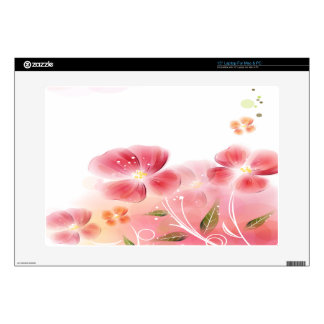 Cute Pink Flowers Decals For Laptops