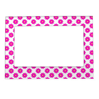 Cute Pink Flowers - Girly Picture Magnetic Frame