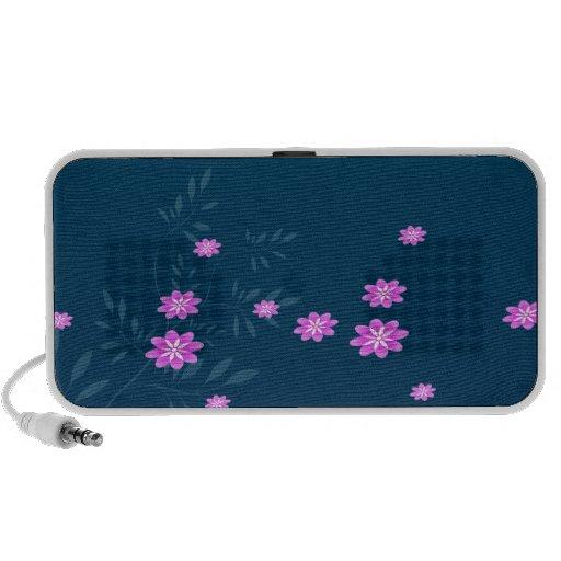 Cute Pink flowers Speaker System
