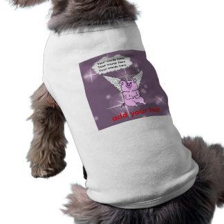 Cute Pink Flying Pig Dog Shirt