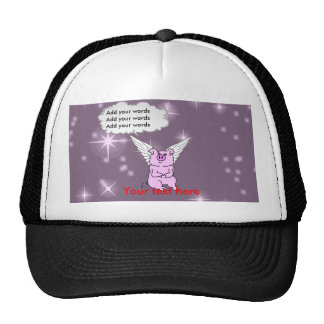 Cute Pink Flying Pig Trucker Hat