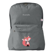 Cute Pink Fox Backpack