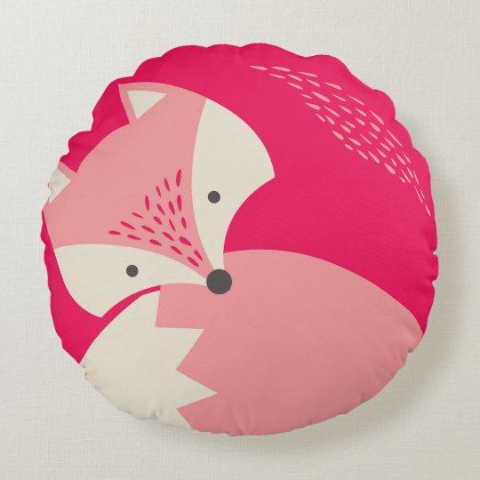 cute pillow clipart. cute pink fox cartoon round pillow for kids clipart t
