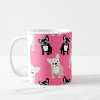 Cute Pink Frenchies French Bulldogs Coffee Mug