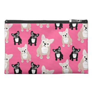 Cute Pink Frenchies French Bulldogs Travel Accessory Bag