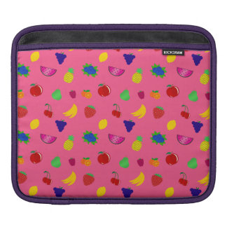 Cute pink fruits pattern sleeve for iPads