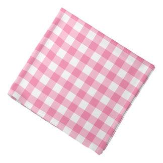 Cute Pink Gingham Pattern Bandana