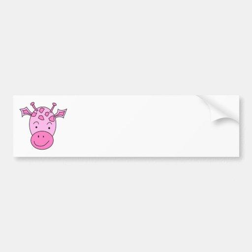 Cute Pink Giraffe. Bumper Sticker