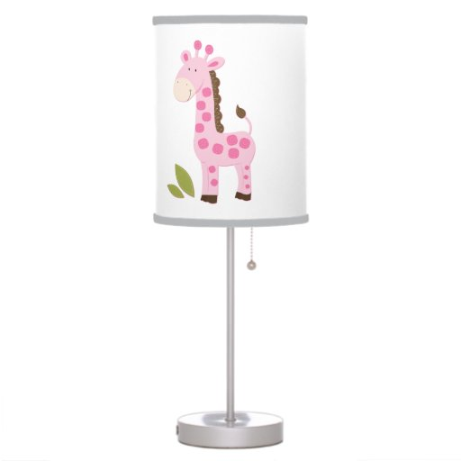 Cute Pink Giraffe Nursery Lamp