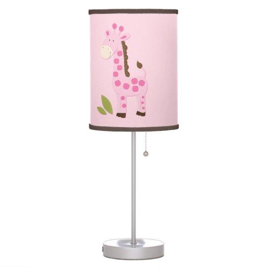Cute Pink Giraffe Nursery Lamp