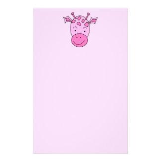 Cute Pink Giraffe. Stationery