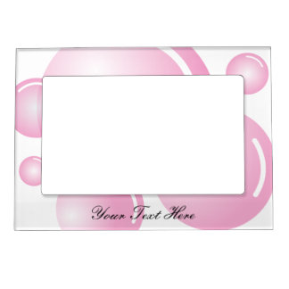Cute pink girl baby shower magnetic picture frame