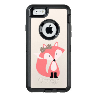 Cute Pink Girl Fox OtterBox Defender iPhone Case