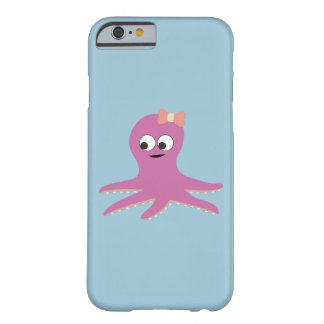 Cute pink girl Octopus Barely There iPhone 6 Case