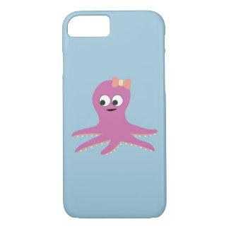 Cute pink girl Octopus iPhone 8/7 Case