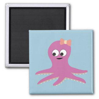 Cute pink girl Octopus Fridge Magnet