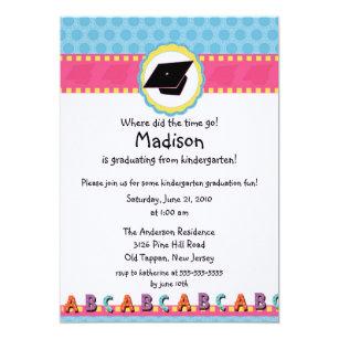 kindergarten graduation invitations zazzle