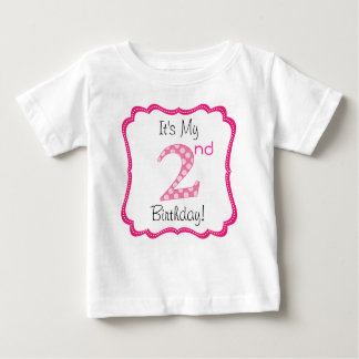 Cute Pink Girl's Second Birthday Shirts