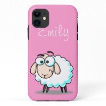 Cute Pink Girly Sheep  Cartoon iPhone 11 Case