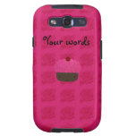 Cute pink glitter cupcake roses samsung galaxy s3 covers