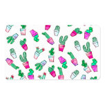 Cute pink green watercolour trendy cactus pattern Double-Sided standard business cards (Pack of 100)