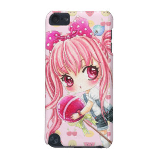 Cute pink haired girl with huge lollipop iPod touch 5G cover