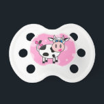 "Cute Pink Happy Cow Cartoon Pacifier<br><div class=""desc"">Cute Pink Happy Cow Cartoon</div>"
