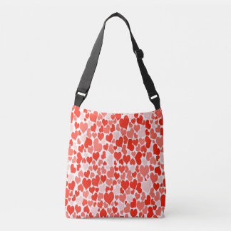 Cute Pink Heart All Over Print Tote Bag