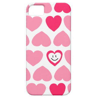 Cute Pink Hearts and Smiley Face iPhone SE/5/5s Case