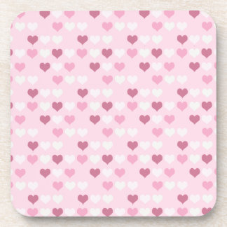 Cute Pink Hearts Coasters
