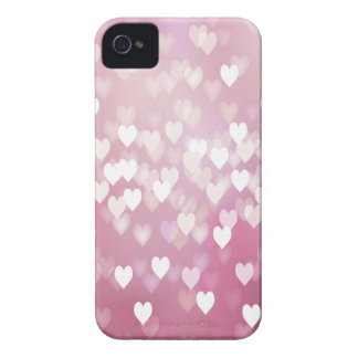 Cute Pink Hearts iPhone 4 Case