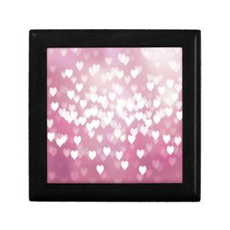 Cute Pink Hearts Keepsake Box