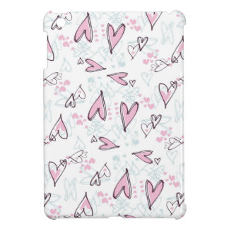Cute Pink Hearts Love Valentine's Day Design Case For The iPad Mini