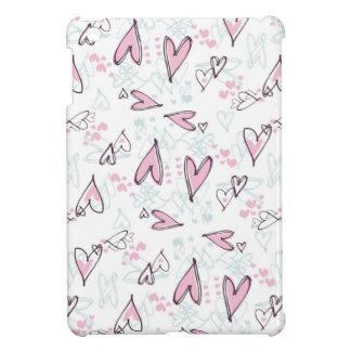 Cute Pink Hearts Love Valentine's Day Design Case For The iPad Mini